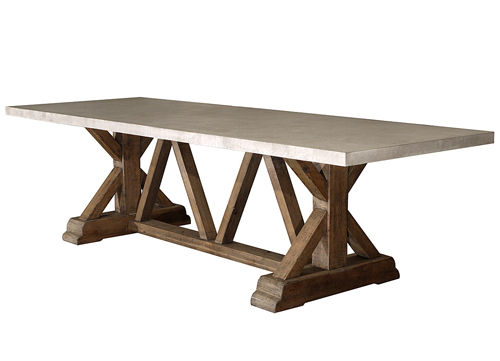 concrete top dining table Sonoma Country Antiques Showroom: 108