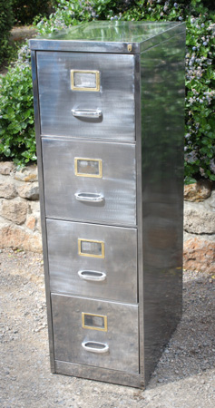 Brushed Metal Filing Cabinet
